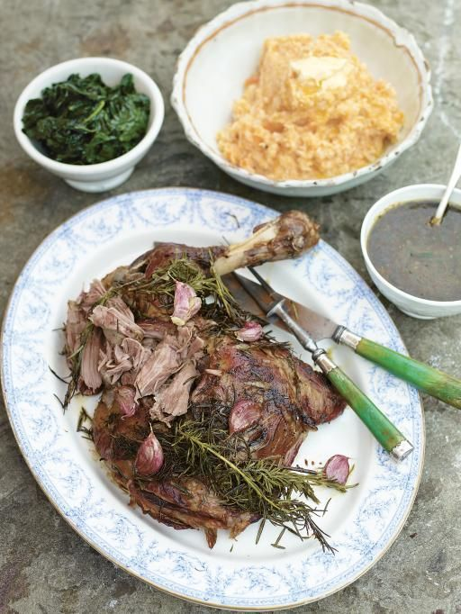 Slow roast shoulder of lamb with garlic and rosemary - Jamie Oliver