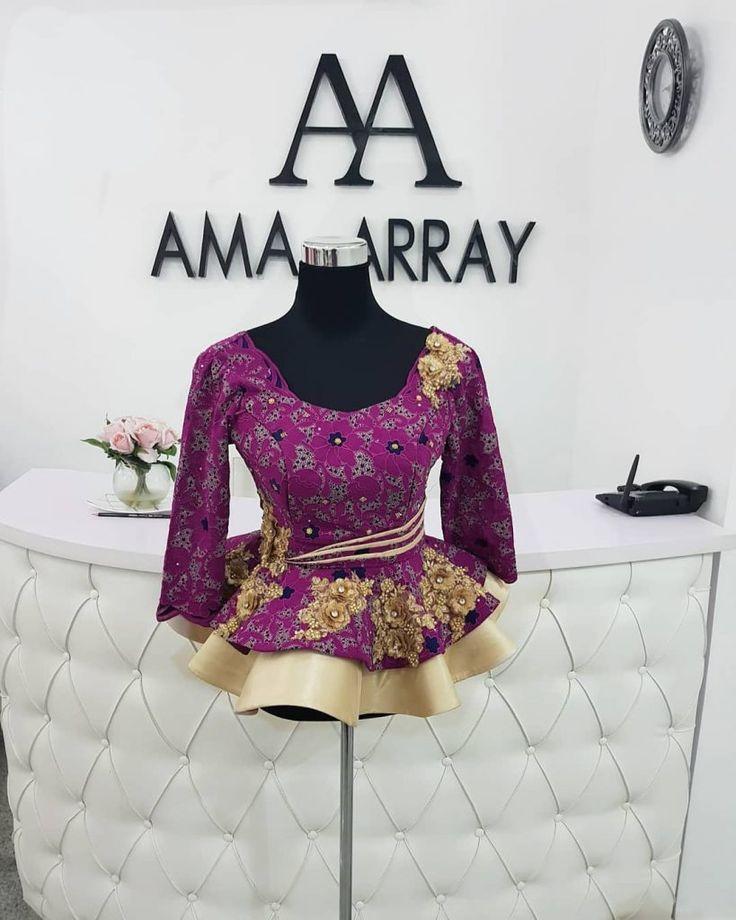 Statement Ankara Peplum Top Designs Perfect For Stylish