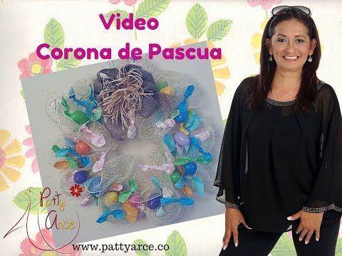 DIY Ideas de Pascua. Corona - YouTube