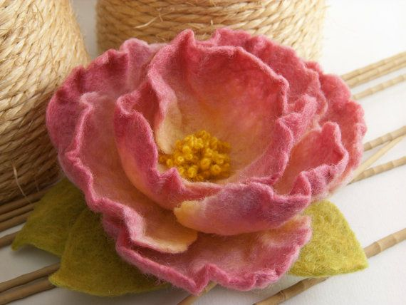 Felt Flower Brooch. $38.00, via Etsy.