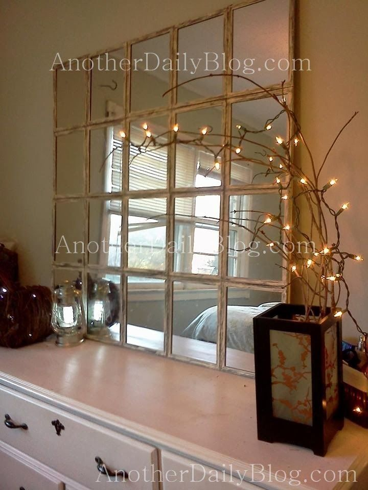 Another Daily Blog: $699 Pottery Barn White Paned Mirror DIY Knock Off  Photo Tutorial For