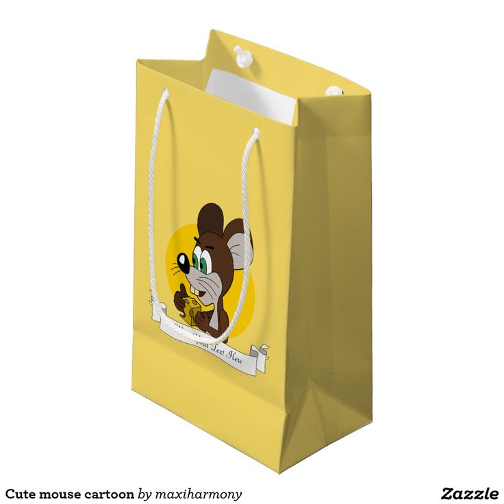 Cute mouse cartoon small gift bag