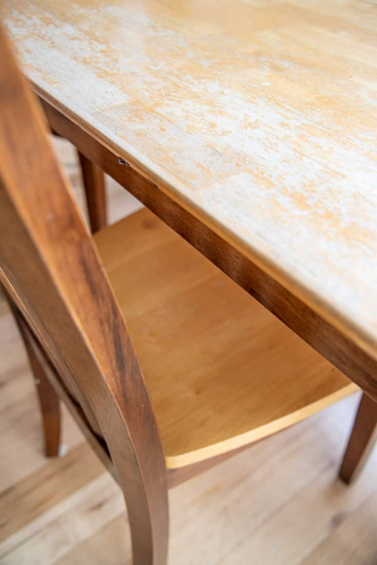 How To Refinish A Table Two Ways Refinishing Kitchen Tables