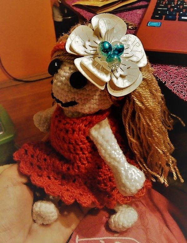 Doll crochet, handmade , Inka