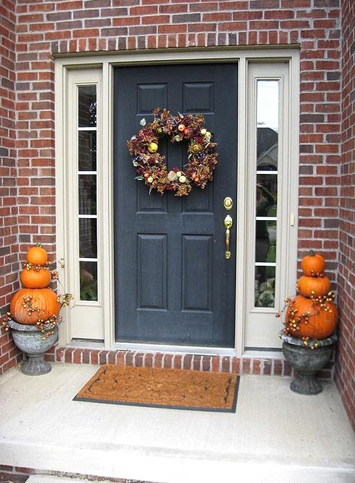 Front door Halloween decoration  For the Home  Pinterest ~ 135011_Halloween Front Door Decorations