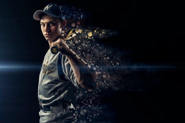 sports team photo ideas - Sports Enhancement Session Baseball Batter Dispersion