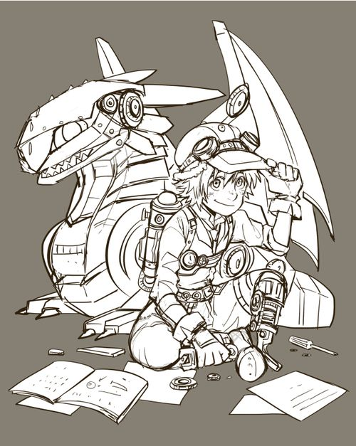 Hiccup and Toothless Steampunk. So coooolllll!!!!!!1        this reminds me of leo and festas from HOO