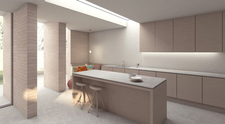 House for a film maker: extension kitchen and snug architectureforlondon.com