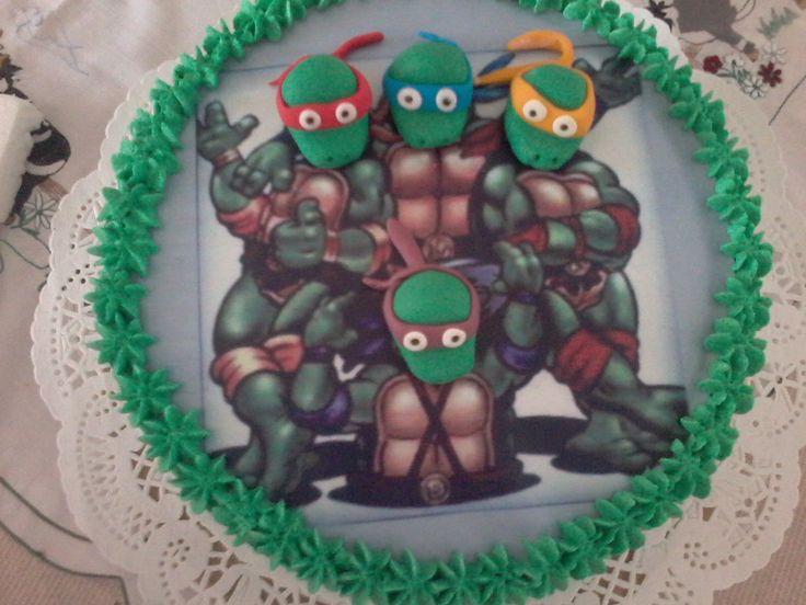 Tortas de tortugas ninja.