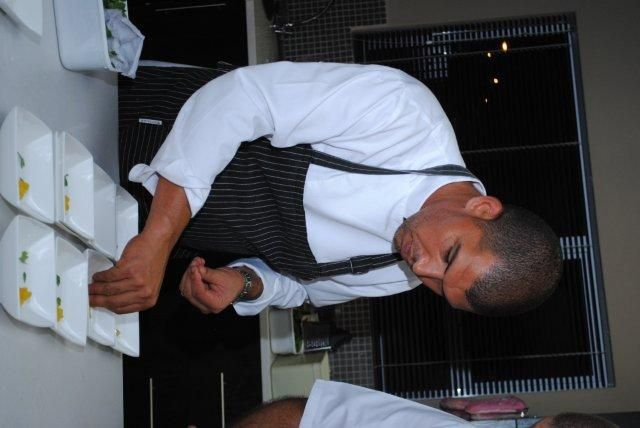 Reuben Riffel in action at the Plascon Double Velvet Birthday Competition dinner