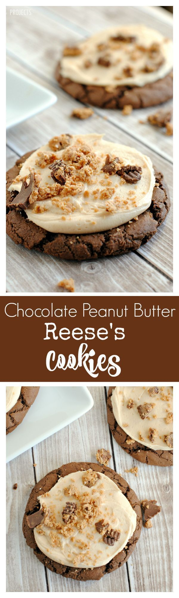 Soft and Chewy Chocolate Peanut Butter Reese's Cookies
