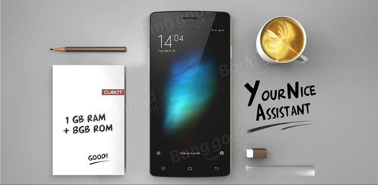 CUBOT X12 5-Inch MTK6735 Quad Core Android 5.1 Dual SIM Cards 4G Smartphone Sale-Banggood.com