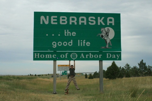 The Piano Man, #DotanNegrin, who is carting his upright piano across America, just to play for us, stops by Home of Arbor Day, Nebraska. #pianoacrossamerica