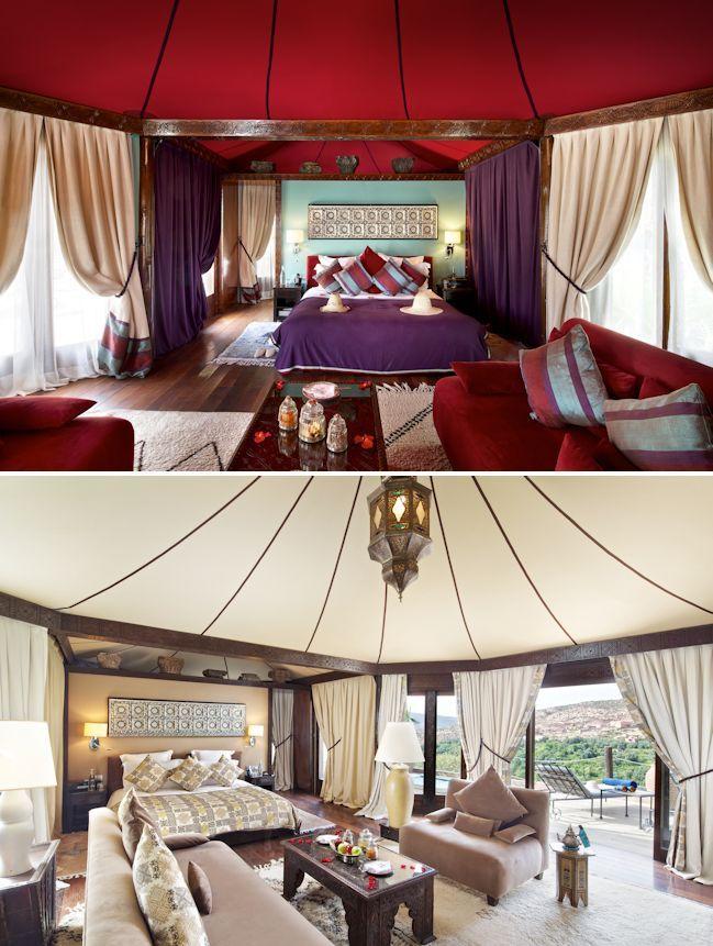 Camping Honeymoon Ideas; Kasbah Tamadot, Morocco