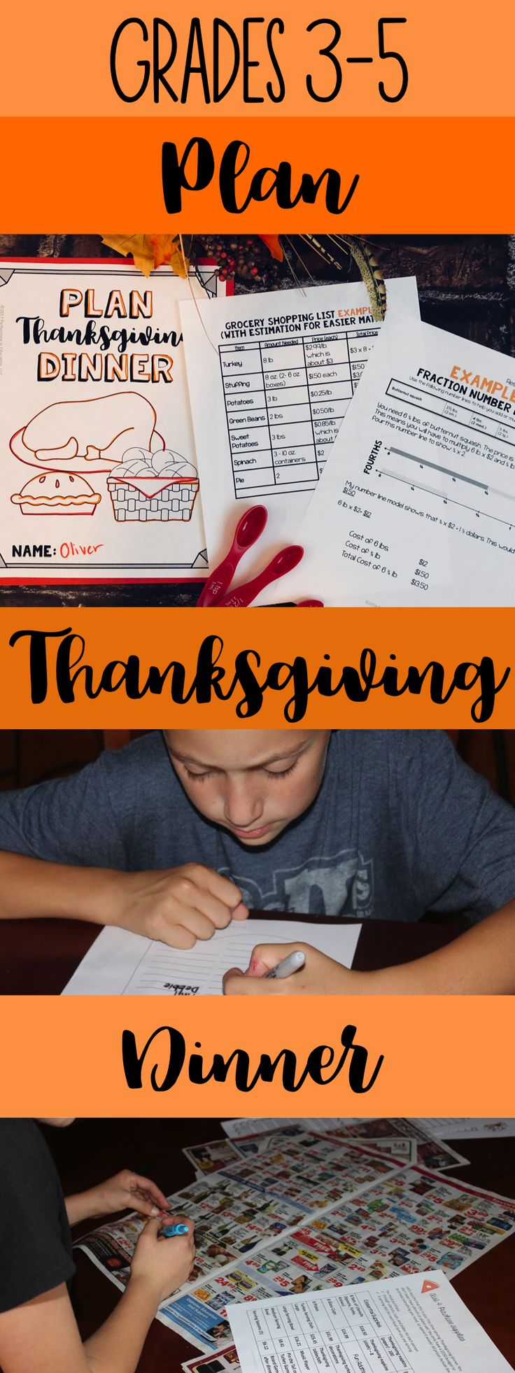 Teach your students math standards this November with this engaging Thanksgiving Project-Based Learning Activity! Click to see the 3rd, 4th, and 5th grade version.