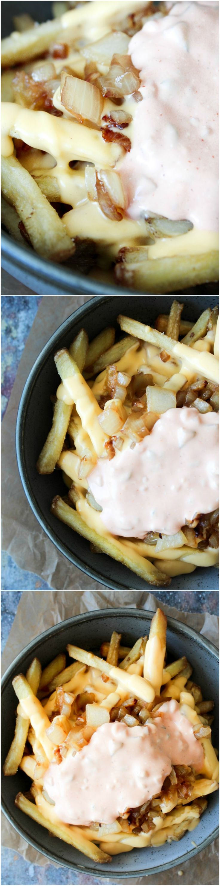 Homemade Animal Style Fries - Cheddar Cheese Sauce - Fries - Fry Sauce - Dip - Side Dish