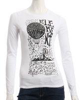 Igwis-Femme-Tee shirt ls-Volcom-Fin de Stock-PaulFrank-Roxy-DC-shoes-Billabong-KanaBeach-DVS-CellDvsn-2ndSky-Destockage Volcom