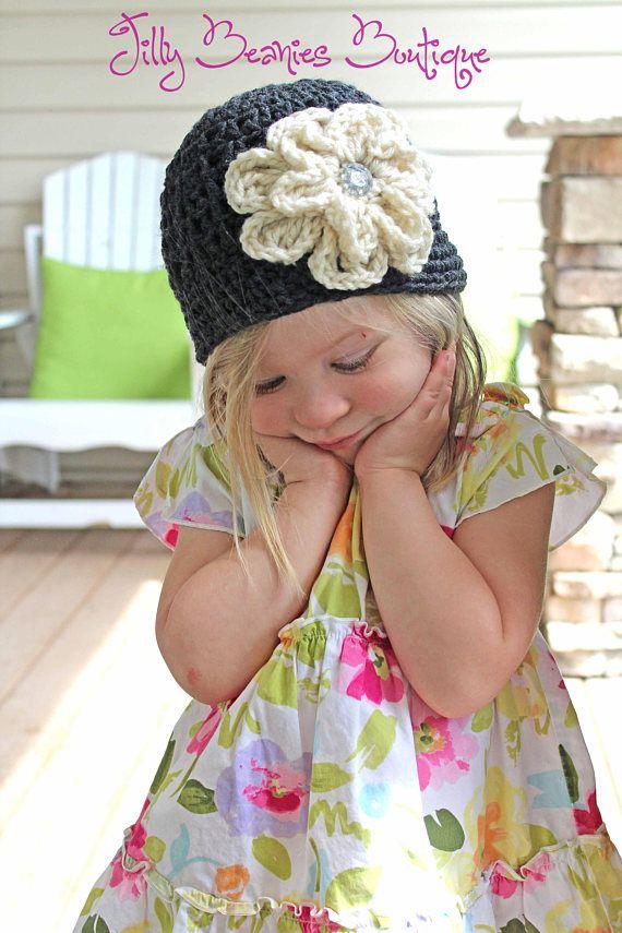 Chica sombrero, sombrero de bebé niña, niña sombrero, sombrero de flor, gorrita tejida de la flor, sombrero mujer, sombrero de los niños, niño sombrero, niño sombrero, sombrero infantil de ganchillo