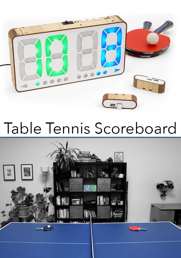 Too lazy to keep track of your Table Tennis / Ping Pong score? Or maybe your just sick of always forgetting it?  If so, you may be interested in building this digital Table Tennis Scoreboard.