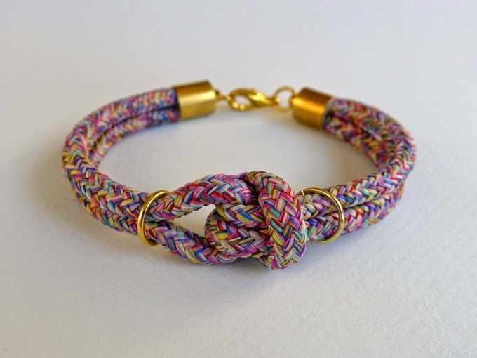 Chic Cord Knotted Bracelet   AllFreeJewelryMaking.com