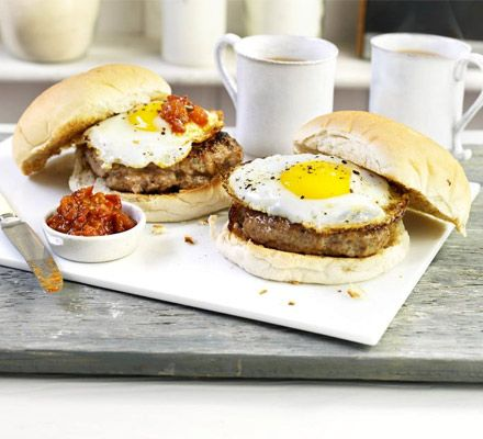Give the humble sausage sarnie the brunch treatment by serving it in buns with fresh, piquant homemade ketchup