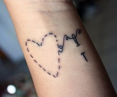 and here's the heart....bit different to what I have in mind: Tattoo Ideas, Wrist Tattoo, Tattooink, Cute Ideas, Heart Tattoo, Stitches Tattoo, Tattoo Patterns, A Tattoo, Tattoo Ink