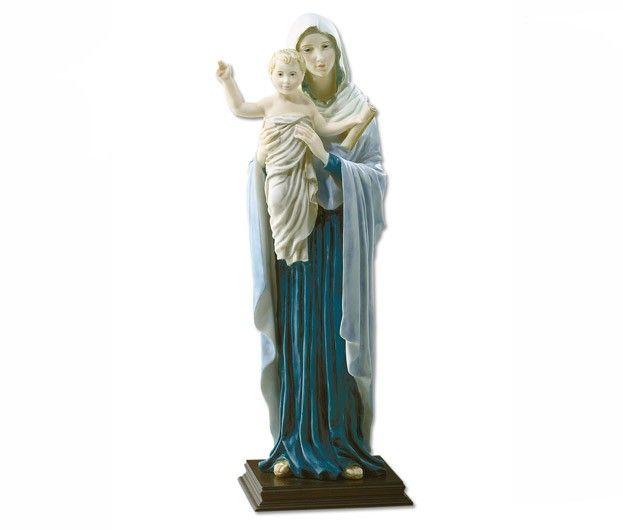 Statua Regina degli Apostoli in polvere di marmo.