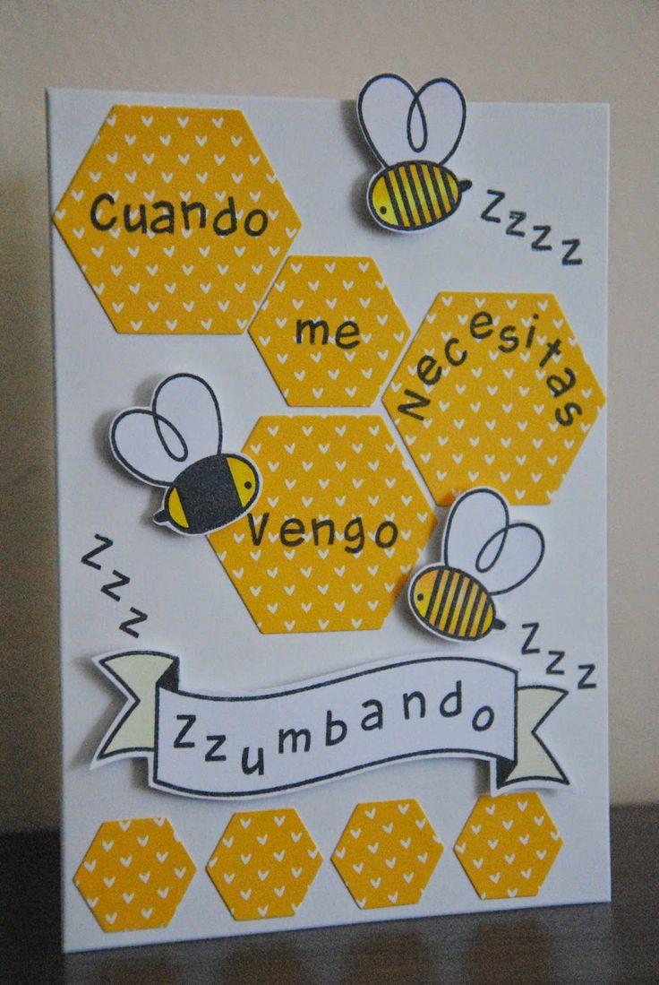 Sellos abejas de Paper Smooches. Sello abecedario de Lawn Fawn.