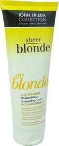 Le shampooing éclaircissant go blonder redonne de l'éclat à tous les types de cheveux blonds (naturels, colorés ou méchés).