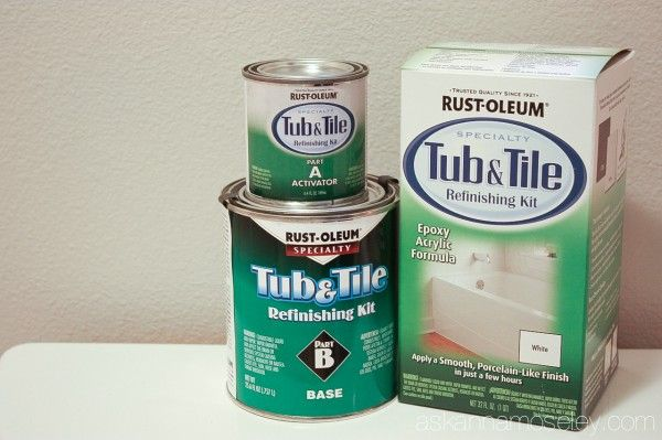 how to update an ugly bathtub for less than 30, bathroom ideas, diy, home decor, Bathtub Makeover with Rust oleum