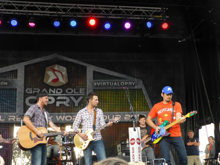 Brad Paisley - my photo - surprise visit to outdoor early show with, Love and Theft at Brad's concert Sept. 2012 in Tampa. Awesome!