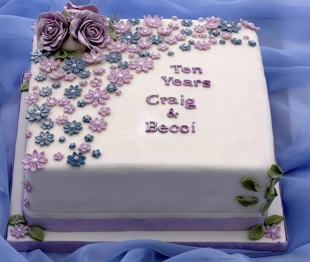 10th Wedding Anniversary Cake | Flickr - Photo Sharing!