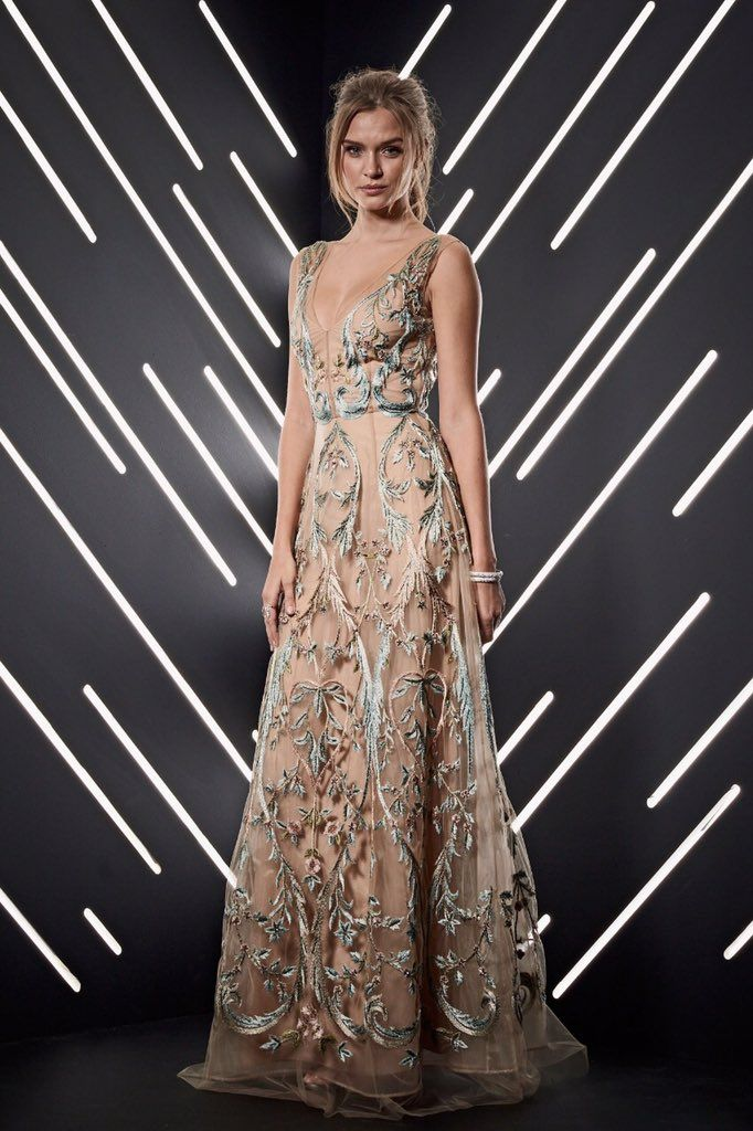 327514a725 Josephine Skriver In Alberta Ferretti Limited Edition – Best FIFA Football  Awards 2018