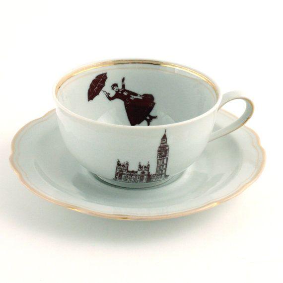 Fun teacup and saucer- Monika Diamantopoulou