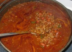 An Award Winning Chili Recipe!- needs about 1/4 cup of chili powder and more cumin- brown sugar or reduce to 2tbsp