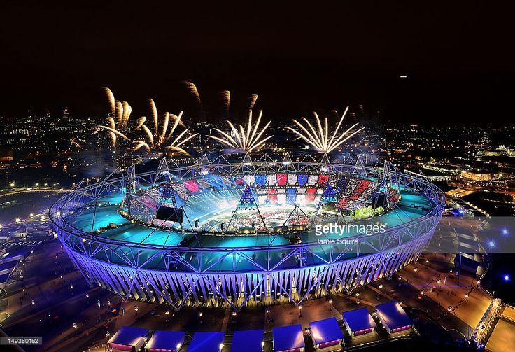 Fireworks ignite over the Olympic Stadium during the Opening Ceremony for the London 2012 Olympic Games on July 27, 2012 at Olympic Park in London, England.