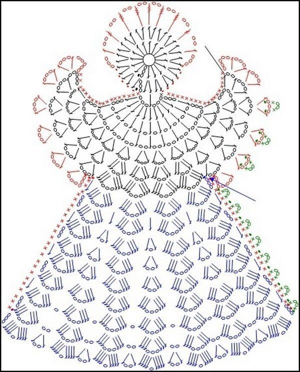 схемы вязания крючком красивых снежинок ангелов.бесплатно: 19 тыс изображений найдено в Яндекс.Картинках