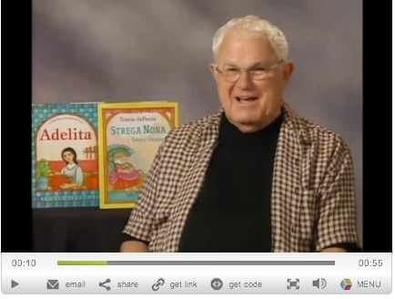 Video interview: Tomie dePaola, the author and illustrator of Strega Nona and many other favorite books, always knew he wanted to be an artist since the age of 4. Tomie tells comical childhood tales, reflects on his career, and suggests ways to encourage young readers and artists.