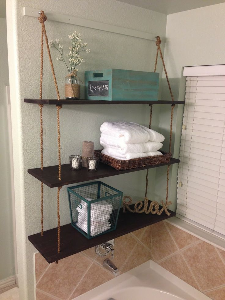 Hanging Bathroom Shelves Brilliant 8 Best Hanging Shelves Images On Pinterest  Shelving Shelving