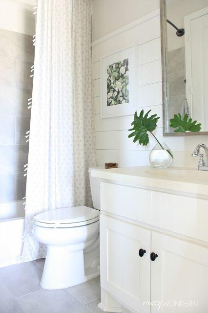 builder grade bathroom makeover