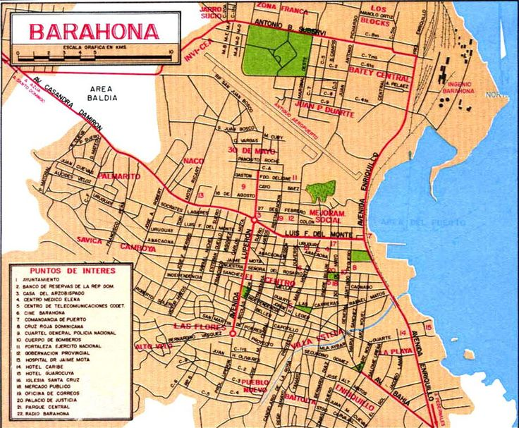 Dominican republic, Barahona mapa