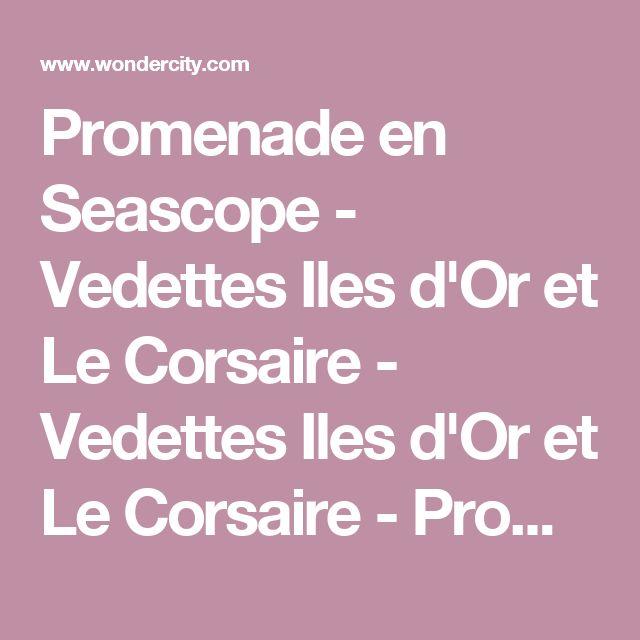 Promenade en Seascope - Vedettes Iles d'Or et Le Corsaire - Vedettes Iles d'Or et Le Corsaire - Promenades en famille à Le Lavandou   Wondercity Marseille
