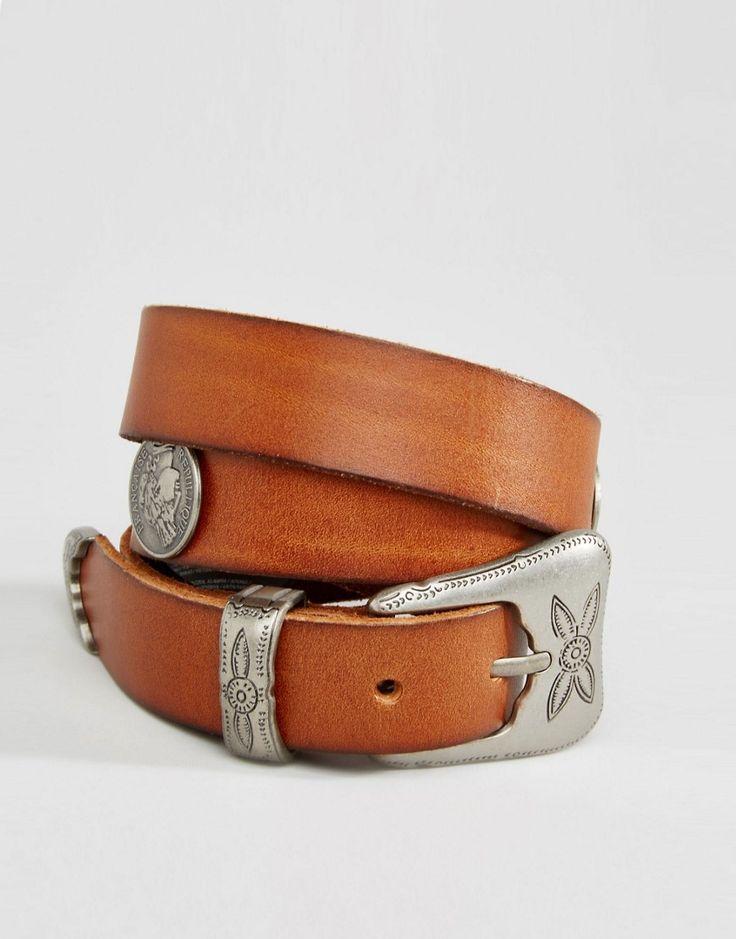 Image 1 ofMango Coin Detail Tan Belt