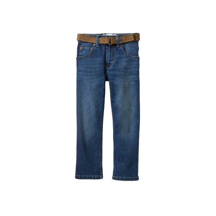 Boys 4-7x Lee Dungarees Slim Straight-Leg Jeans with Easy-Snap Belt, Boy's, Size: medium (5), Light Blue