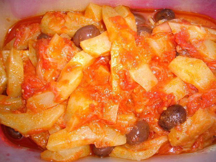 Zucchine+spinose+in+umido+con+olive