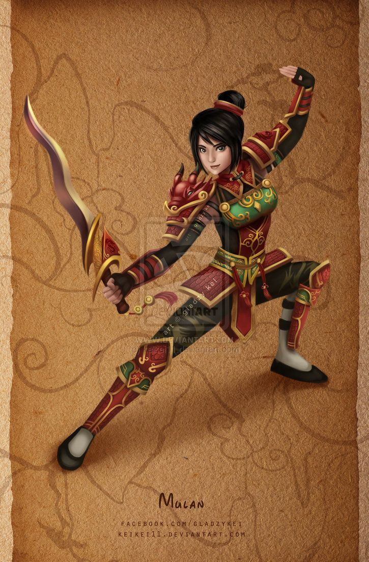Battle Princesses - Mulan by keikei11