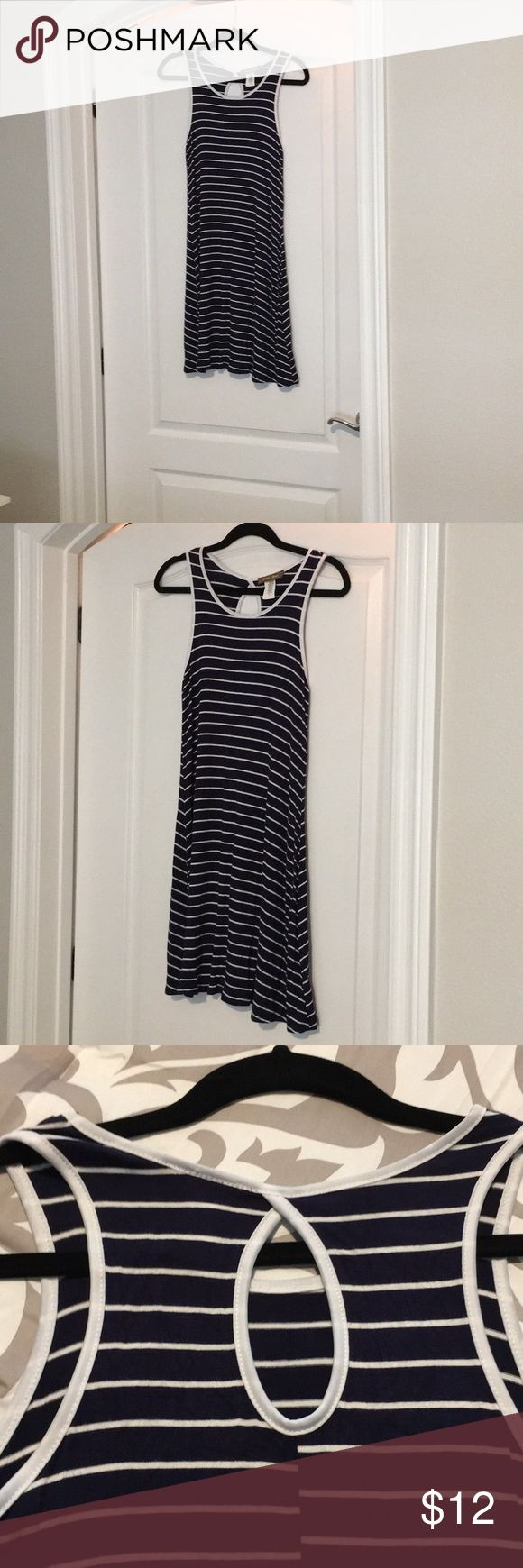 Dress. Short summer dress. Navy blue and white stripped. Perfect for a casual day or a beach cover-up. Worn a few times.  Perfect condition ‼️ Brat Star Dresses Midi