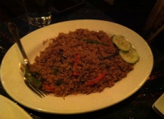 Drunken Fried Rice from the Thai Place