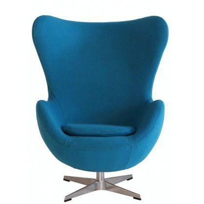 Fotel Jajo insp. Egg Chair, wełna