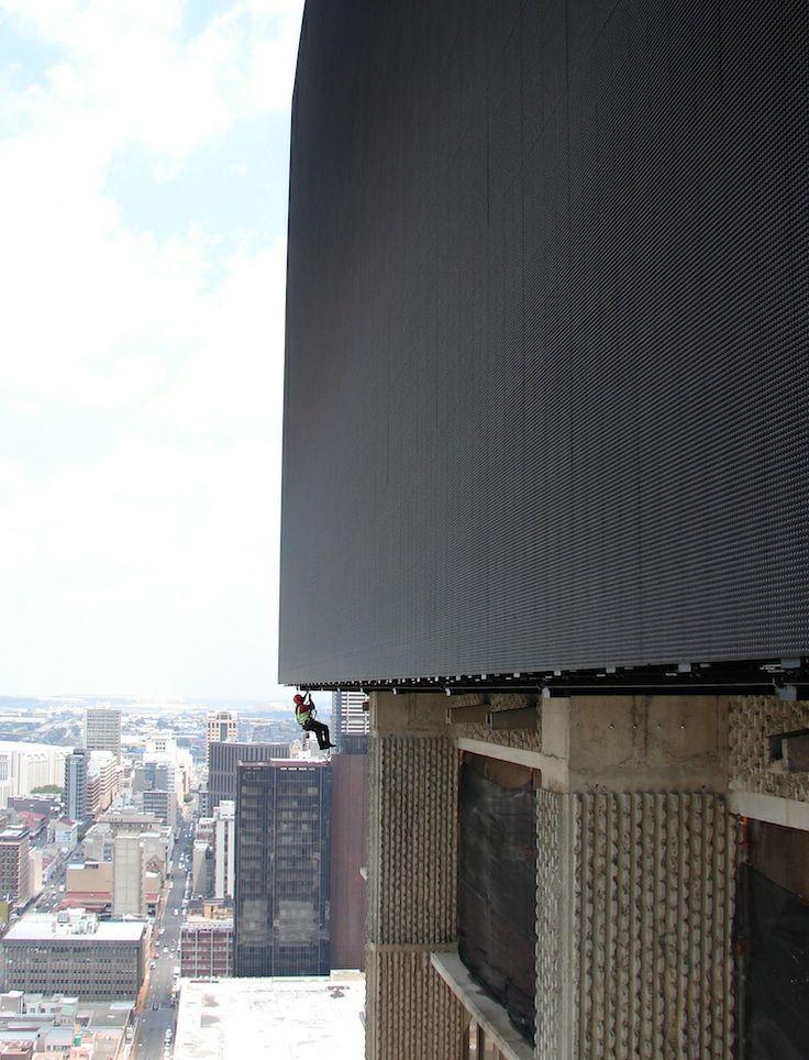 Project Lumen installation. ABSA/Barclays, Johannesburg, South Africa. www.scafftech.co.za